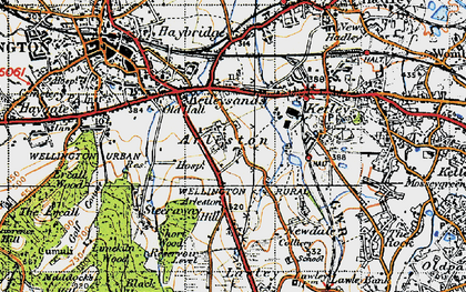 Old map of Arleston Hill in 1947