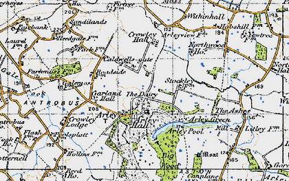 Old map of Badgers Croft in 1947