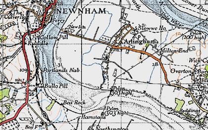 Old map of Arlingham in 1946