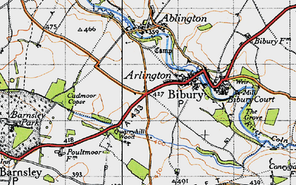 Old map of Arlington in 1946