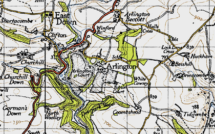 Old map of White Cawsey in 1946