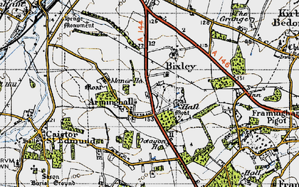 Old map of Arminghall in 1946
