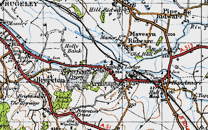 Old map of Armitage in 1946