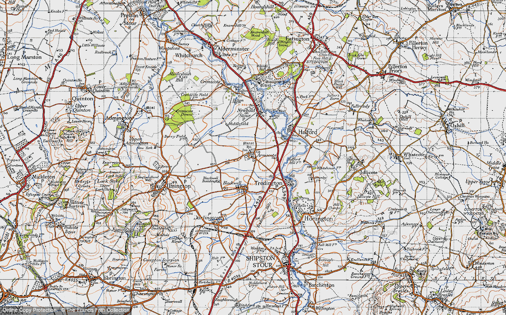 Old Map of Armscote, 1946 in 1946