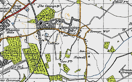 Old map of Armthorpe in 1947