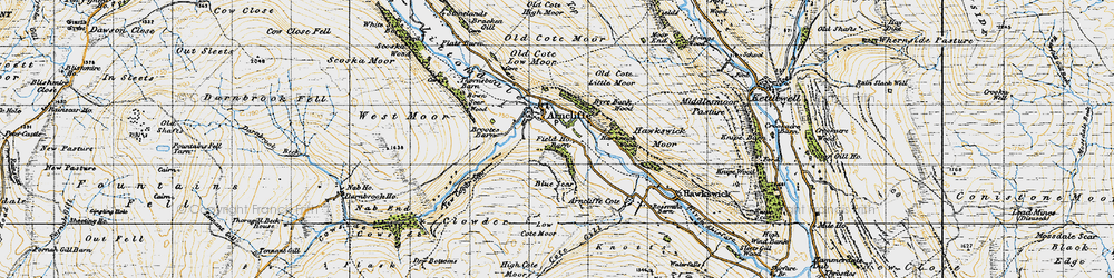 Old map of Arncliffe in 1947