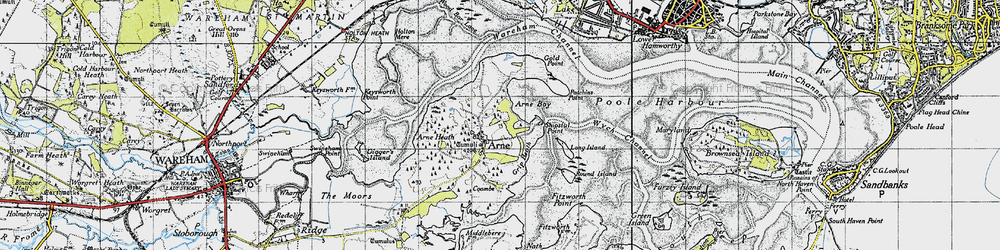 Old map of Wych Channel in 1940