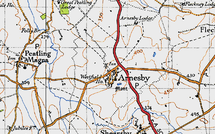 Old map of Arnesby in 1946