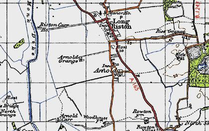 Old map of Arnold in 1947