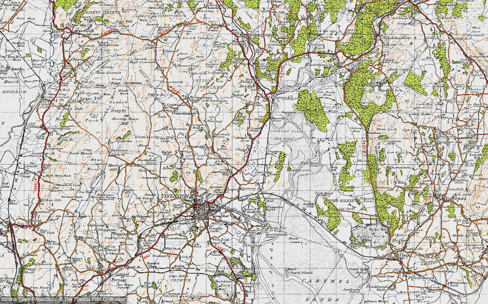 Old Map of Arrad Foot, 1947 in 1947