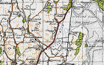 Old map of Arrad Foot in 1947