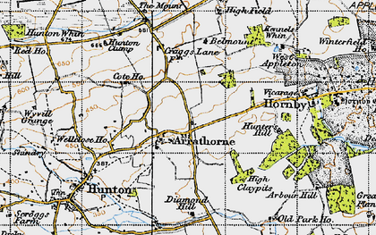 Old map of Arrathorne in 1947
