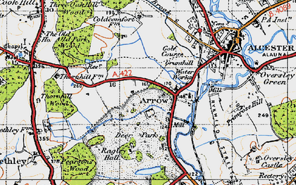 Old map of Arrow in 1947