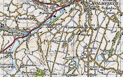 Old map of Arrunden in 1947