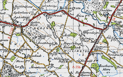 Old map of Arthill in 1947