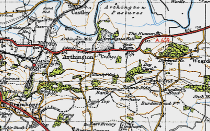 Old map of Arthington in 1947