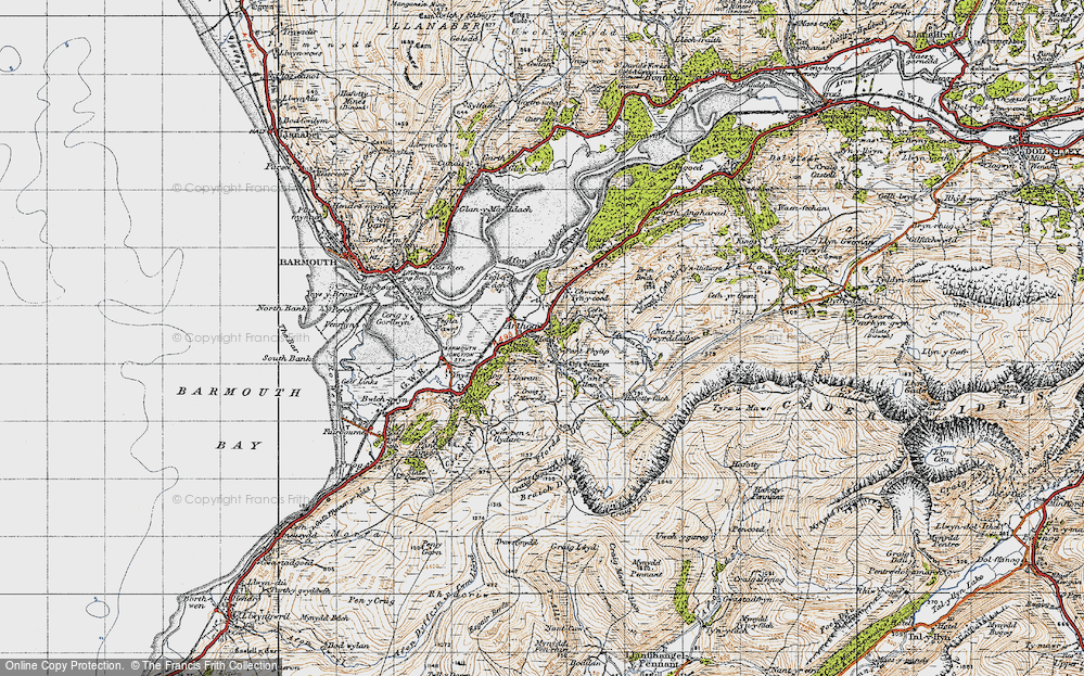 Old Map of Arthog, 1947 in 1947