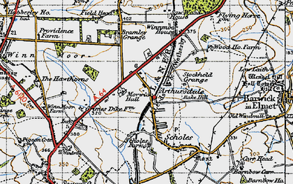 Old map of Arthursdale in 1947
