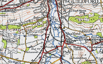 Old map of Artington in 1940