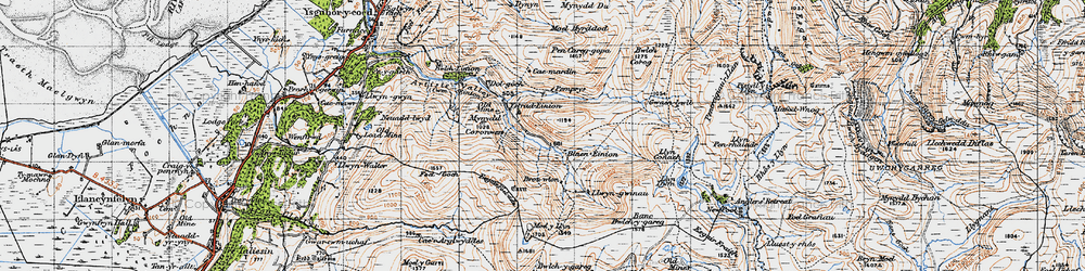 Old map of Anglers' Retreat in 1947