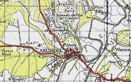 Old map of Arundel Park in 1940