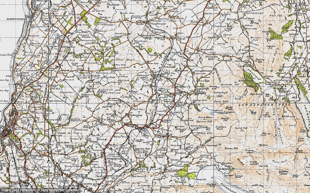 Old Map of Asby, 1947 in 1947