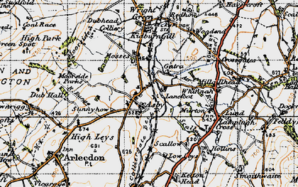 Old map of Asby in 1947