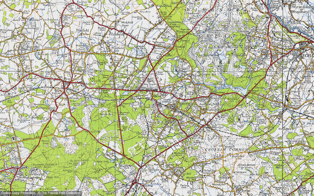 Old Map of Ascot, 1940 in 1940