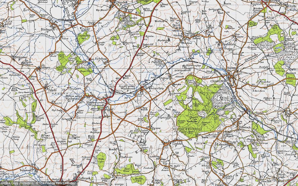 Old Map of Ascott d' Oyley, 1946 in 1946