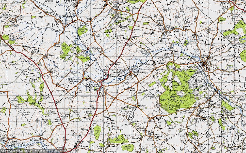 Old Map of Ascott Earl, 1946 in 1946