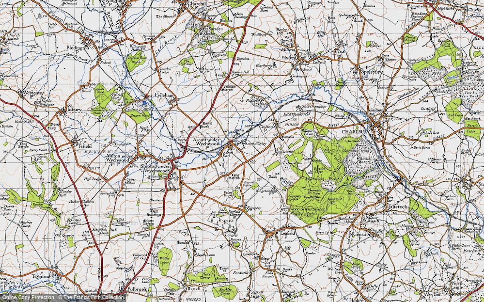 Old Map of Ascott-under-Wychwood, 1946 in 1946