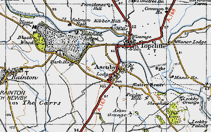 Old map of Asenby in 1947