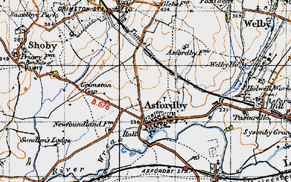 Old map of Asfordby in 1946