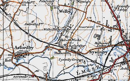 Old map of Asfordby Hill in 1946