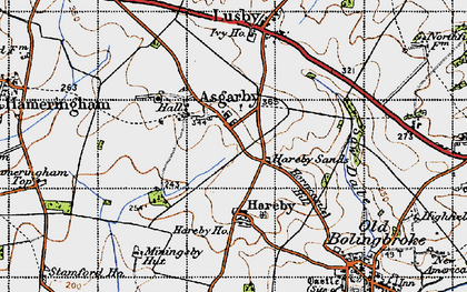Old map of Asgarby in 1946