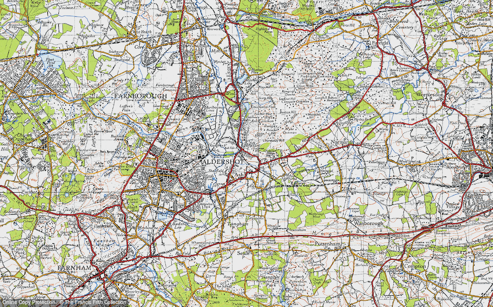 Old Map of Ash, 1940 in 1940