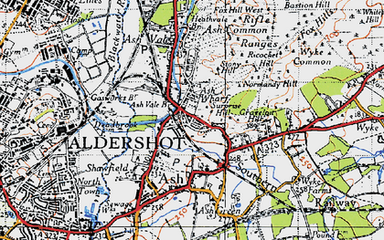 Old map of Ash Common in 1940