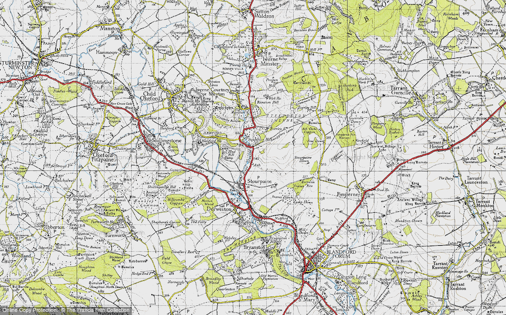 Old Map of Ash, 1945 in 1945