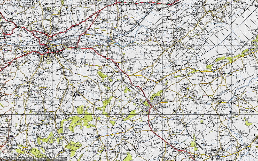 Old Map of Ash, 1946 in 1946