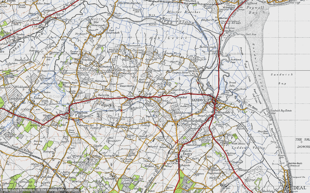 Old Map of Ash, 1947 in 1947