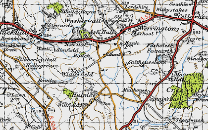 Old map of Ash Bank in 1946