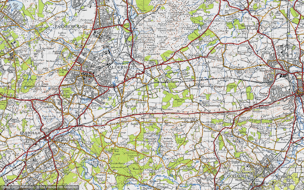 Old Map of Ash Green, 1940 in 1940