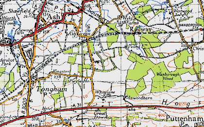 Old map of Ash Green in 1940