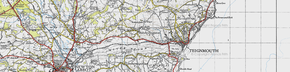 Old map of Ash Hill in 1946