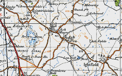 Old map of Ash Parva in 1947