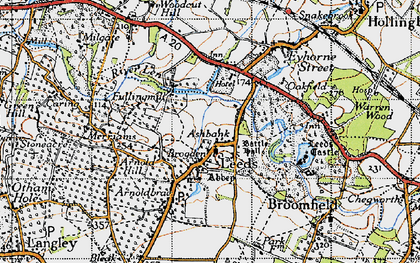 Old map of Ashbank in 1940