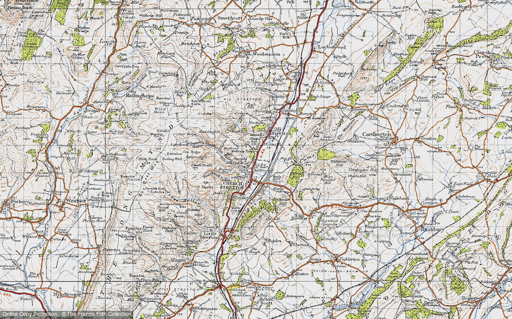 Old Map of Historic Map covering Woodnall in 1947
