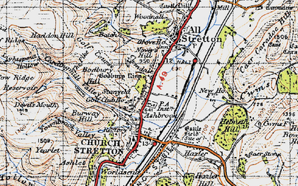 Old map of Ashbrook in 1947