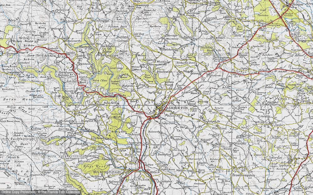 Old Map of Ashburton, 1946 in 1946