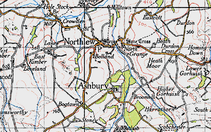Old map of Ashbury in 1946